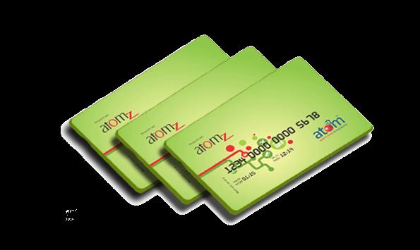 prepaid card atom wallet