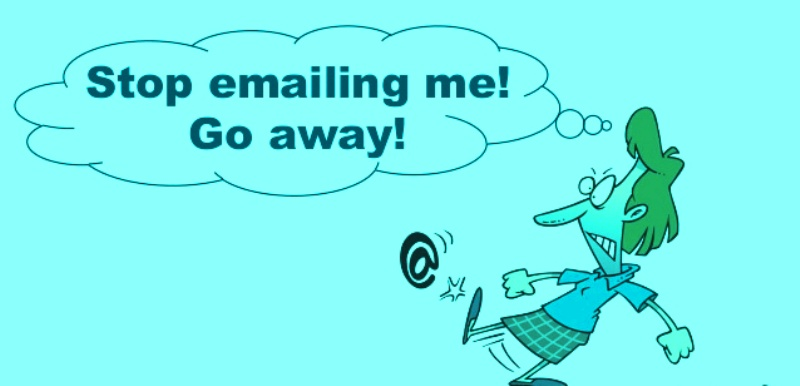 stop emailing
